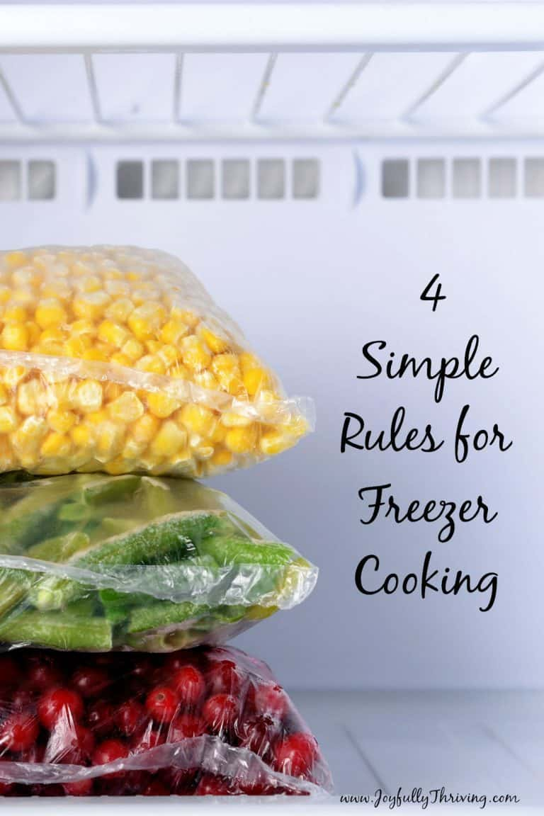 4 Simple Rules for Freezer Cooking