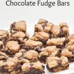 These peanut butter and chocolate fudge bars are so rich and delicious! One of my favorite chocolate bar recipes.