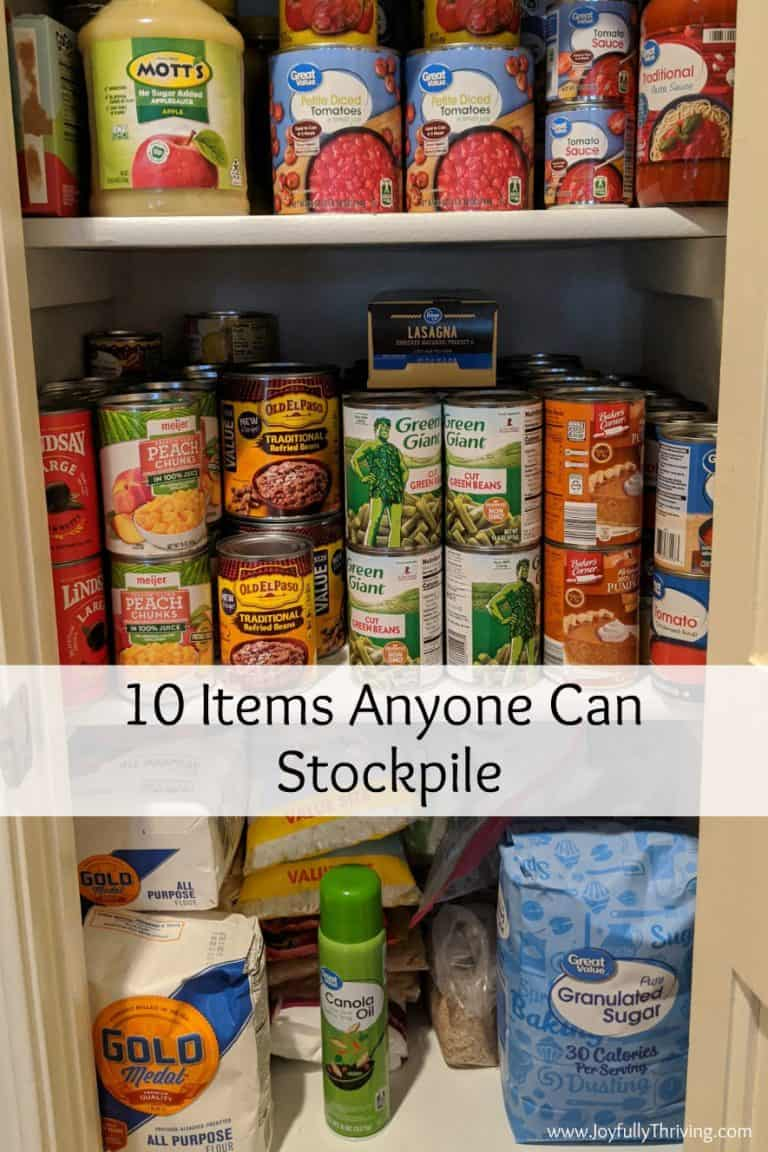 Best 10 Things to Stockpile in a Pantry
