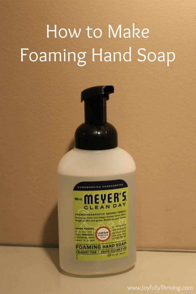 How to Frugally Make Foaming Soap