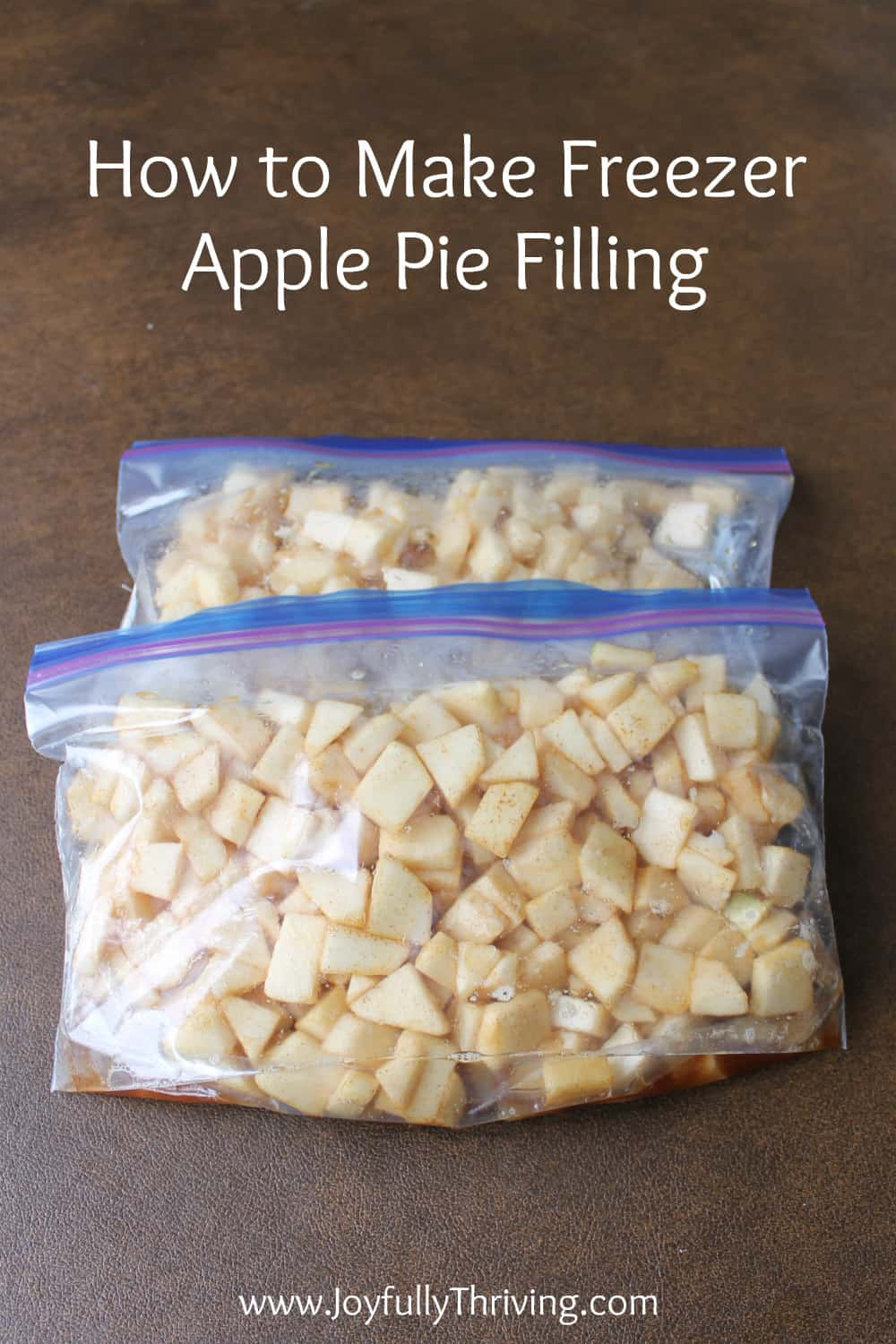 How to Make Apple Pie Filling for the Freezer - What a great idea! I love homemade apple pie and love how easy it is to freeze apple pie filling. Great idea!