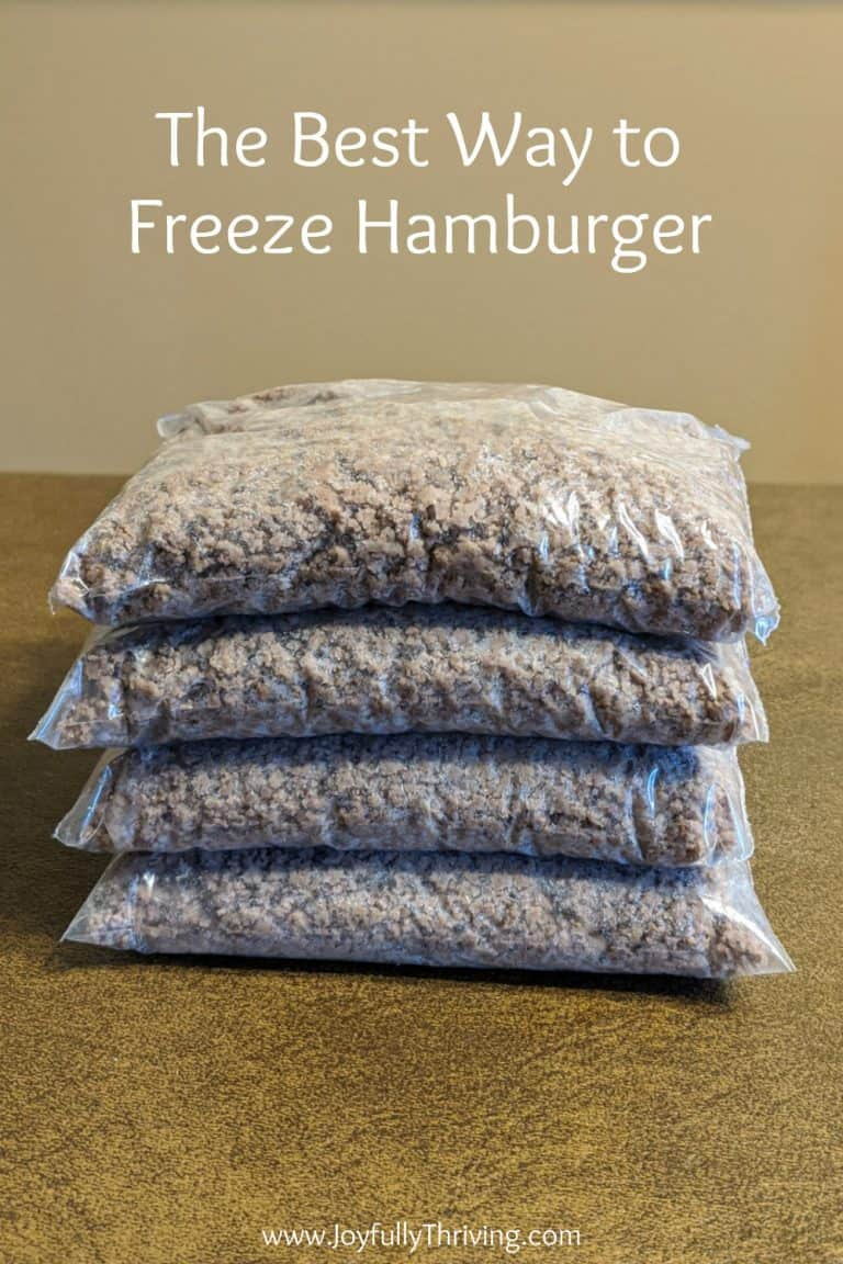How to Freeze Hamburger and Chicken