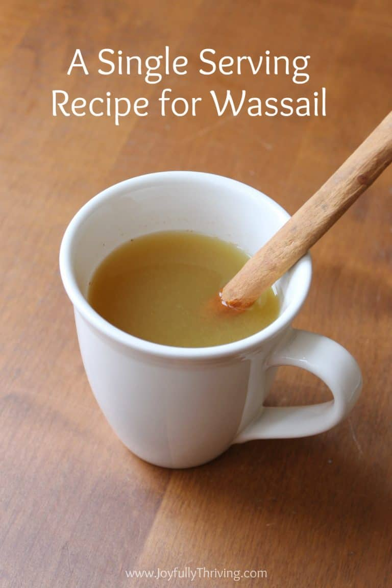 A Single Serving Recipe for Wassail