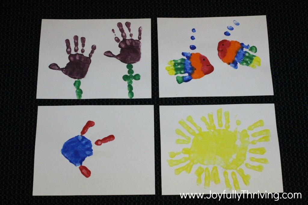 Handprint Calendar - May, June, July & August Ideas