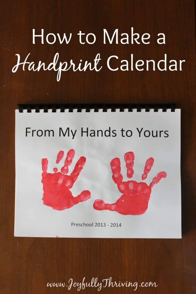 How to Make a Handprint Calendar