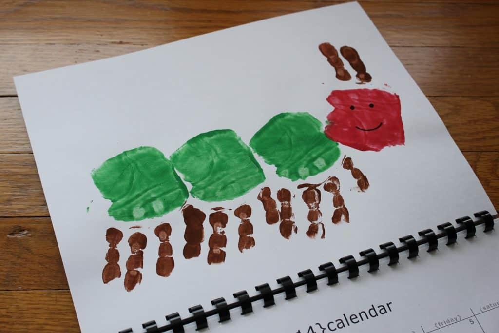 Very Hungry Caterpillar Handprint Calendar