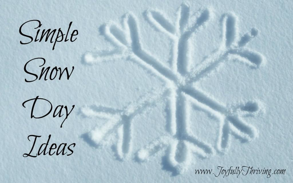 Simple Snow Day Ideas - Here's a list of simple things anyone can do to make the most of a surprise snow day.