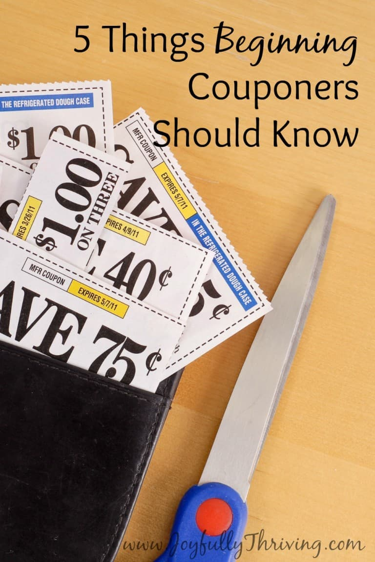 5 Things Beginning Couponers Should Know