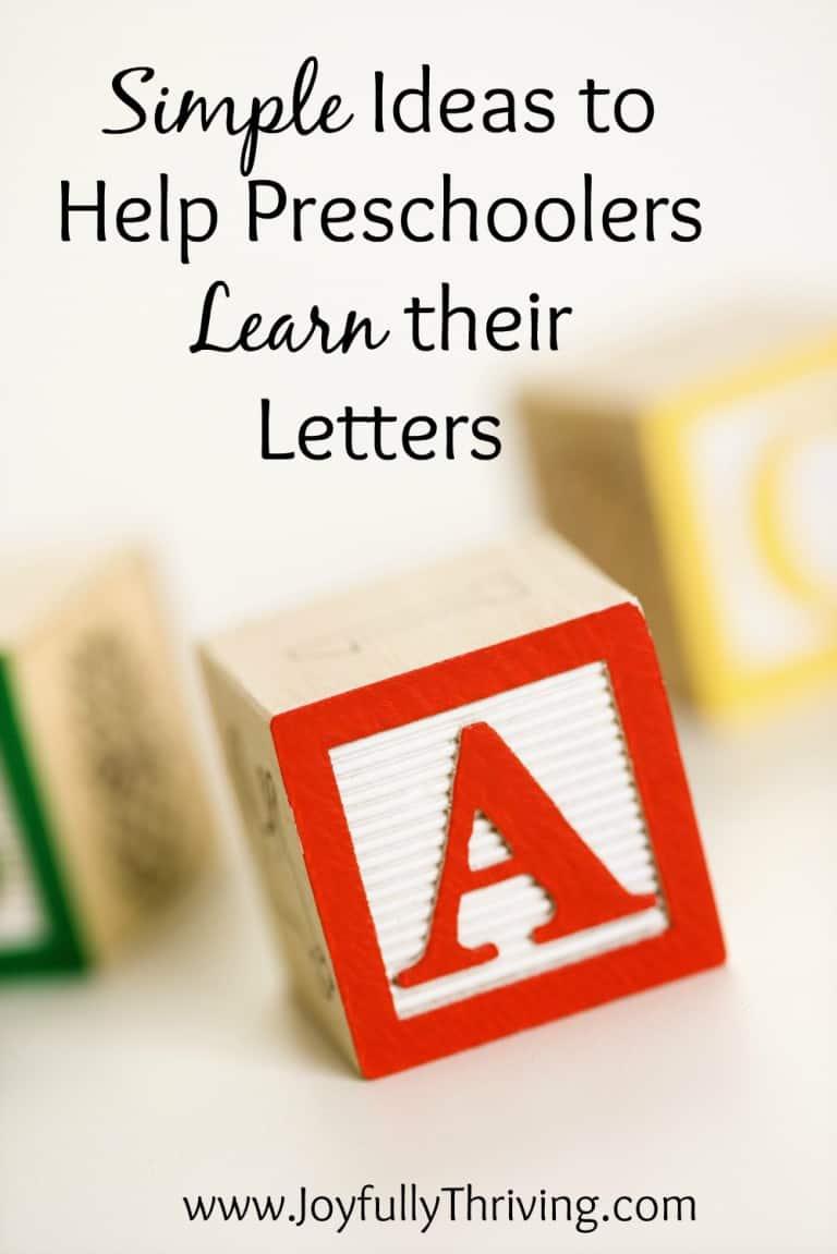 Simple Ideas to Help Preschoolers Learn their ABCs
