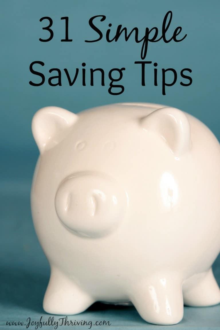 31 Days of Simple Savings