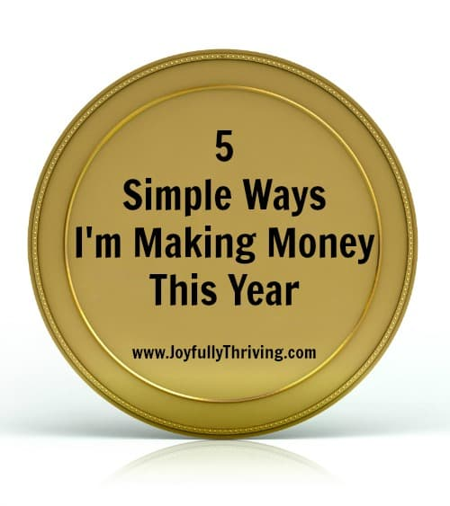 5 Simple Ways I'm Making Money This Year - A list of easy ideas that anyone can do to earn money this year.