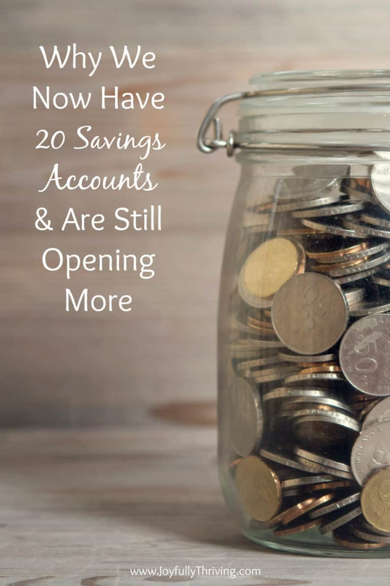 Why We Have 20 Savings Accounts & Are Opening More