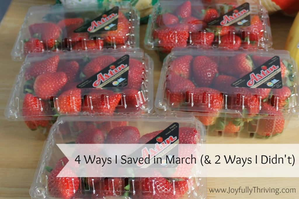 4 Ways I Saved in March and 2 Ways I Didn't Save - Ideas and reminders!