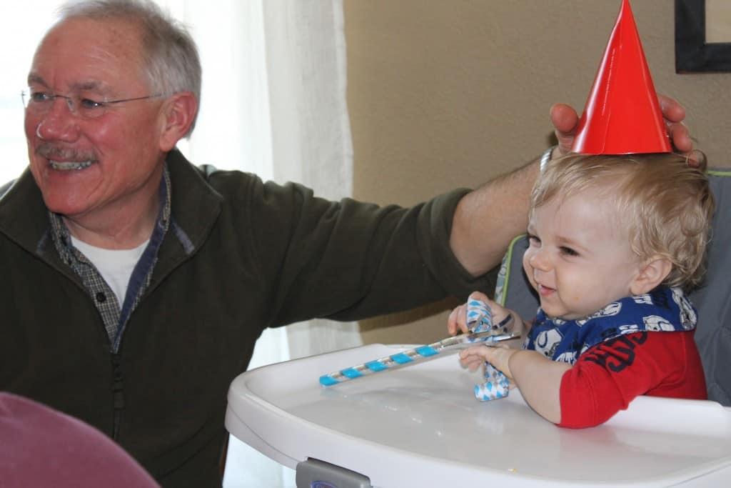 Grandpa and Nathan at his Party
