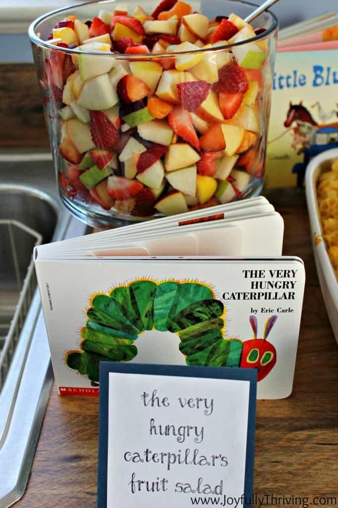 The Very Hungry Caterpillar's Fruit Salad - Joyfully Thriving
