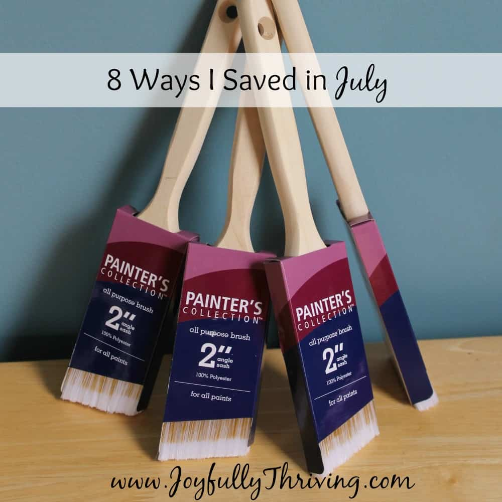 8 Ways I Saved in July
