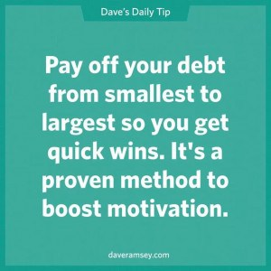 Dave Pay Off Debt with Snowball Method