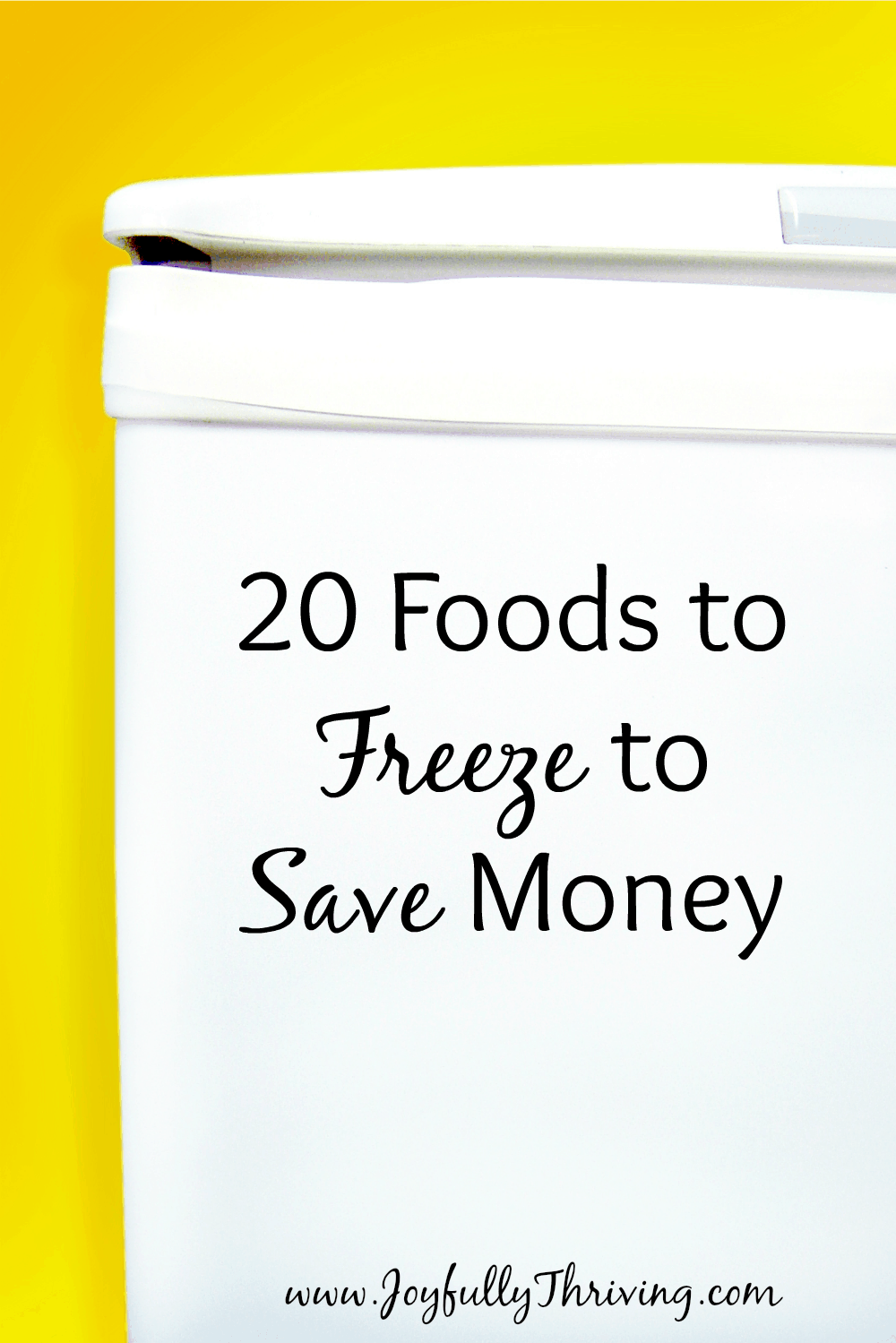 20 Foods to Freeze to Save Money