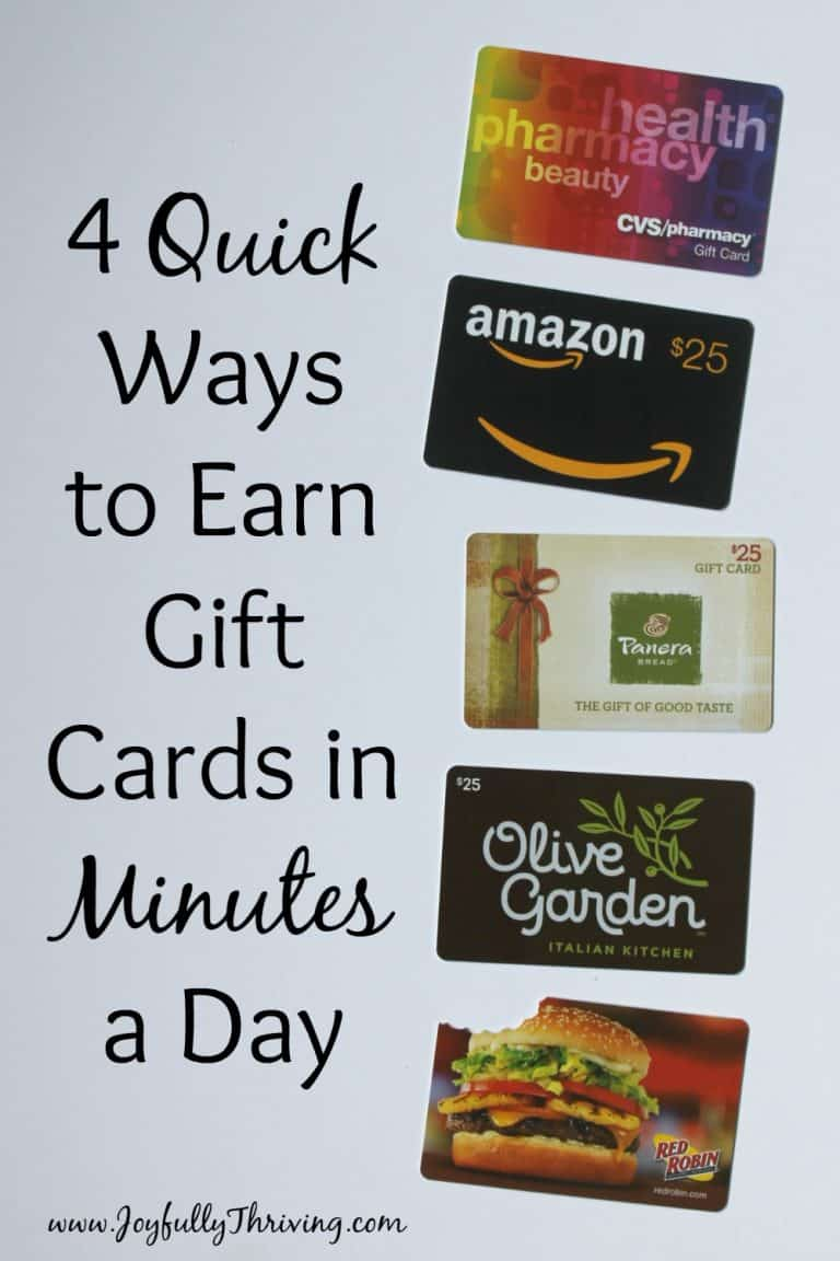 4 Quick Ways to Earn Gift Cards in Minutes a Day