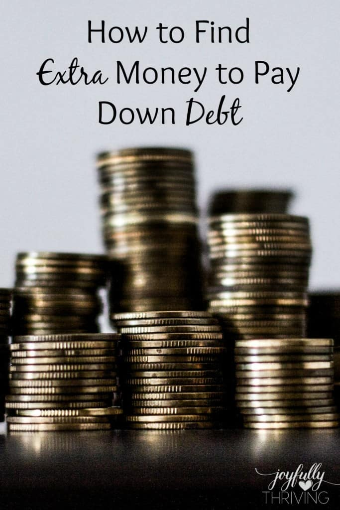 How to Find Extra Money to Pay Down Debt - When you're looking for ways to get rid of debt more quickly, try some of these ideas. We used these!