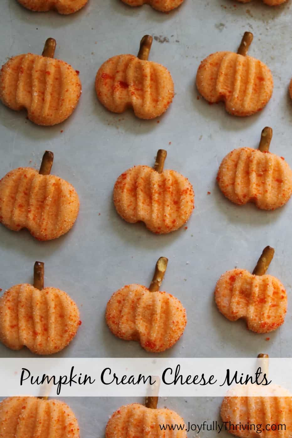 Pumpkin Cream Cheese Mints