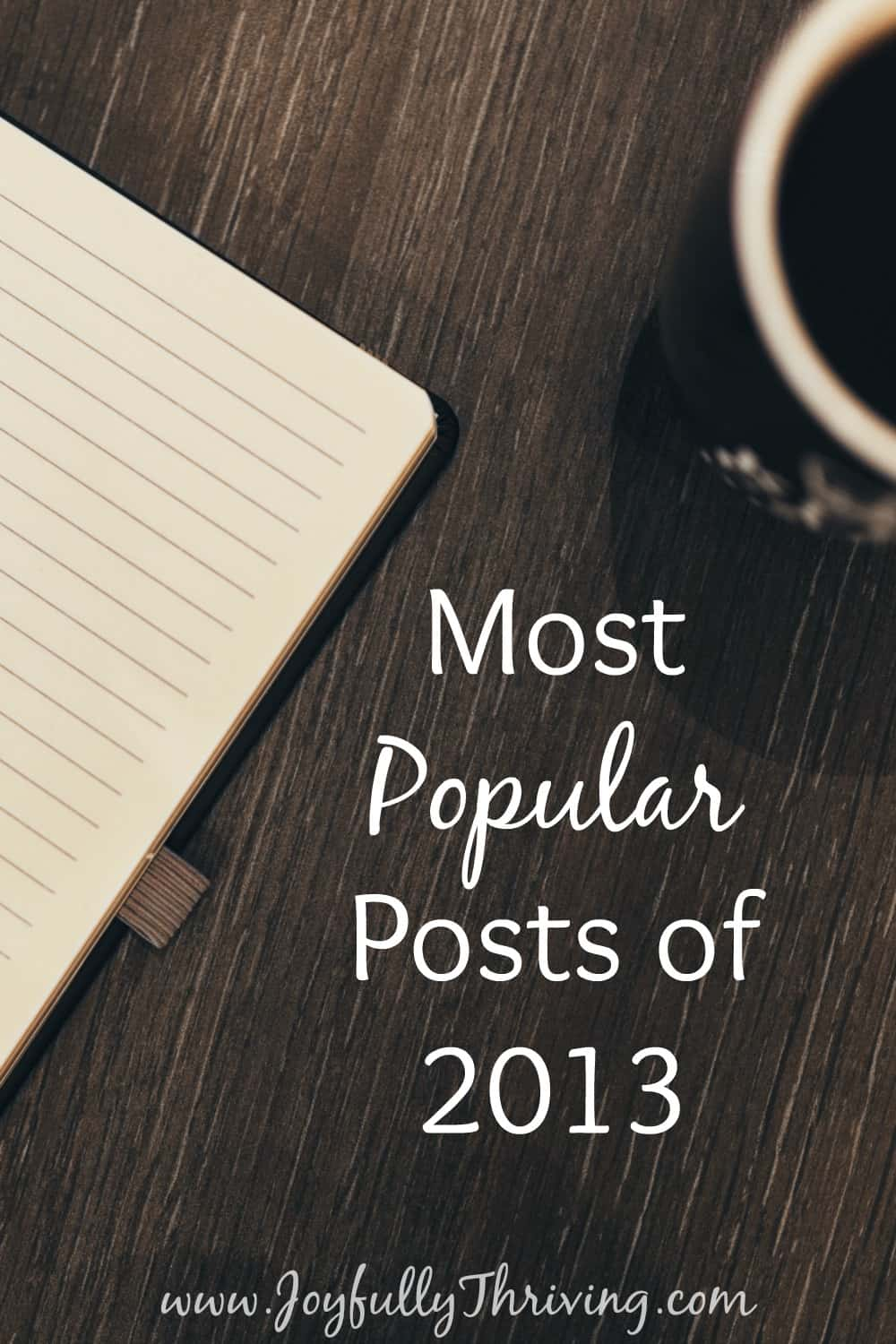 Top 10 Posts from Joyfully Thriving in 2013