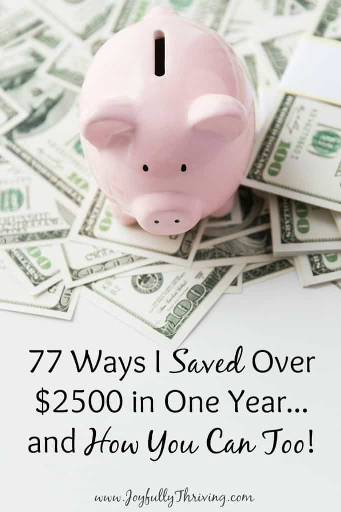 77 Ways I Saved $2500 and How You Can Too - I'm actually amazed at how much the little things accumulated into big savings! Check out this list for ways I saved and ideas to get you started saving, too.
