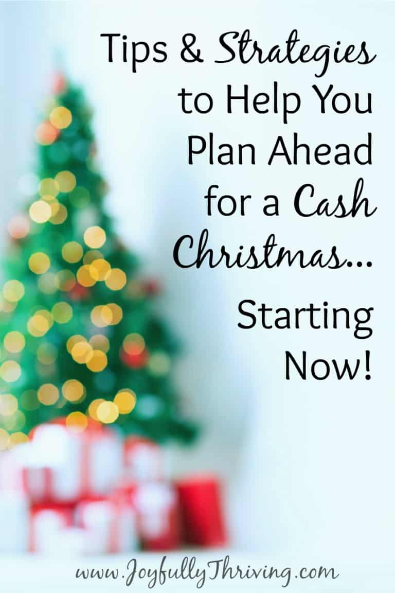 Plan Ahead for a Cash Christmas…Starting Now!