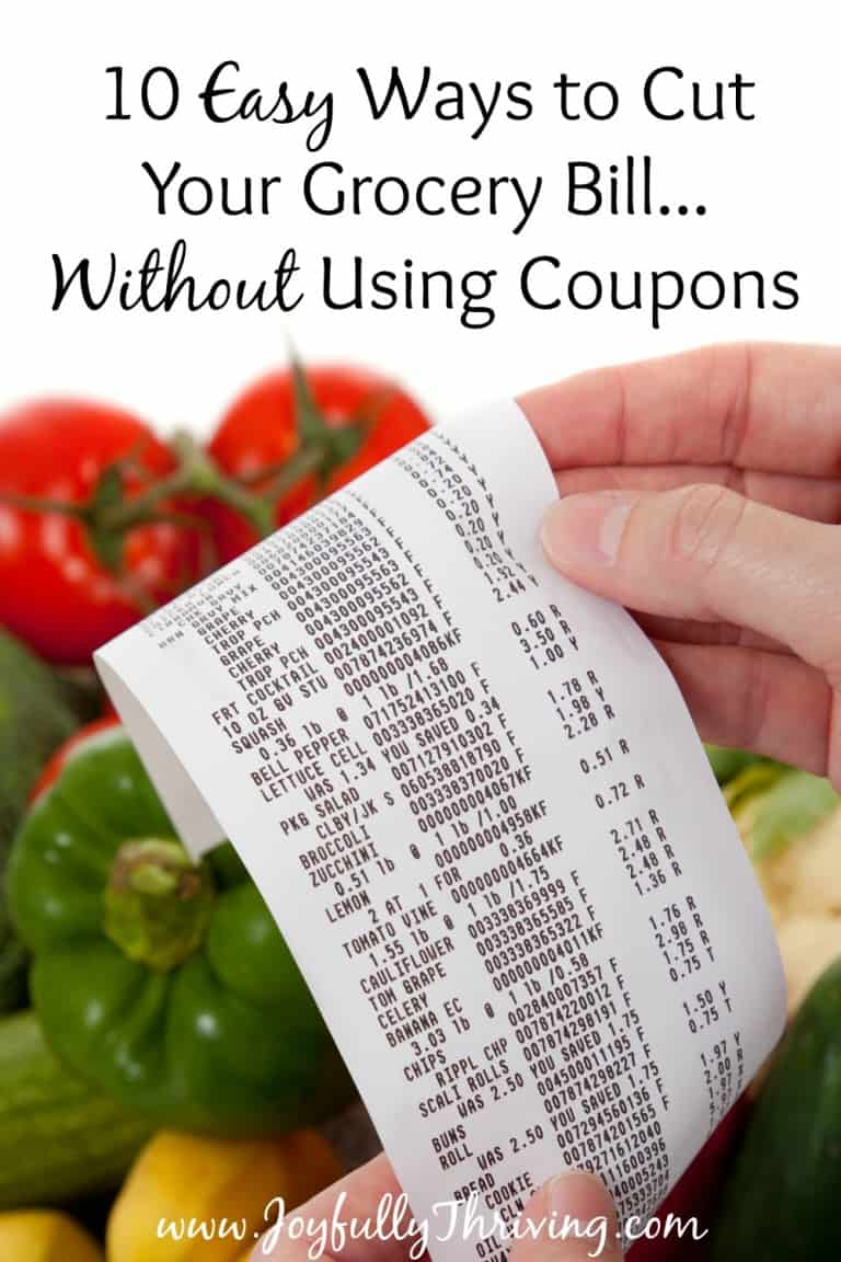 10 Easy Ways to Cut Your Grocery Bill without Coupons