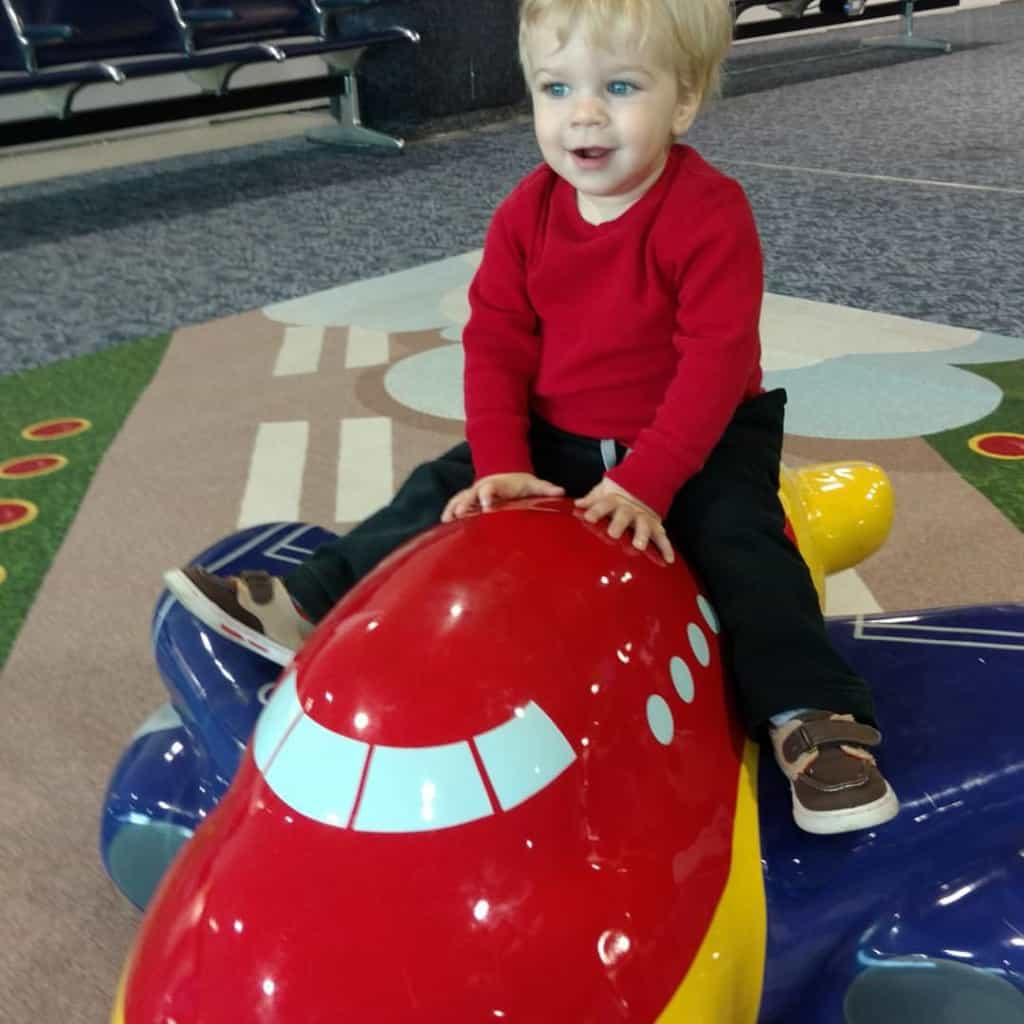 Nathan playing in the Fort Wayne Airport