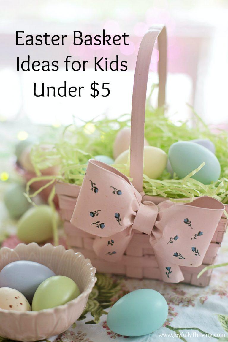 Easter Basket Ideas for Kids Under $5