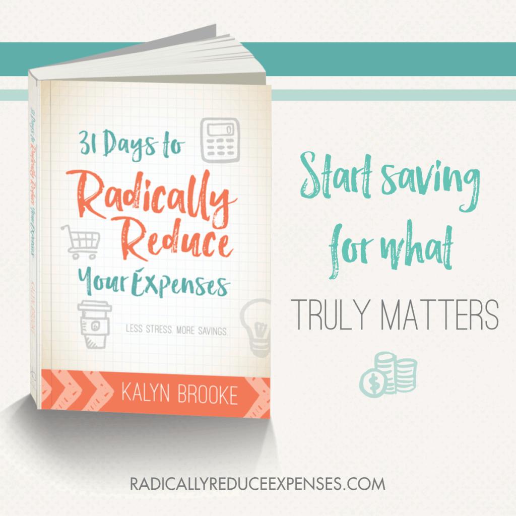 31 Days to Radically Reduce Start Saving Square