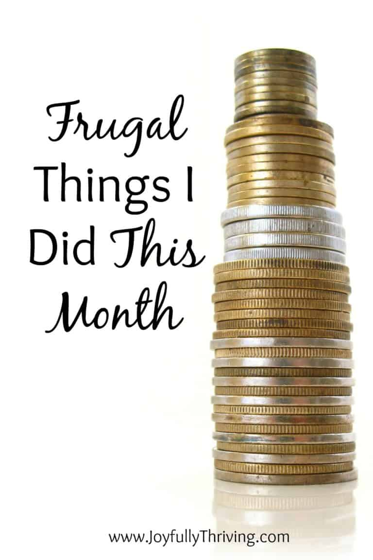 Frugal Things I Did This Month