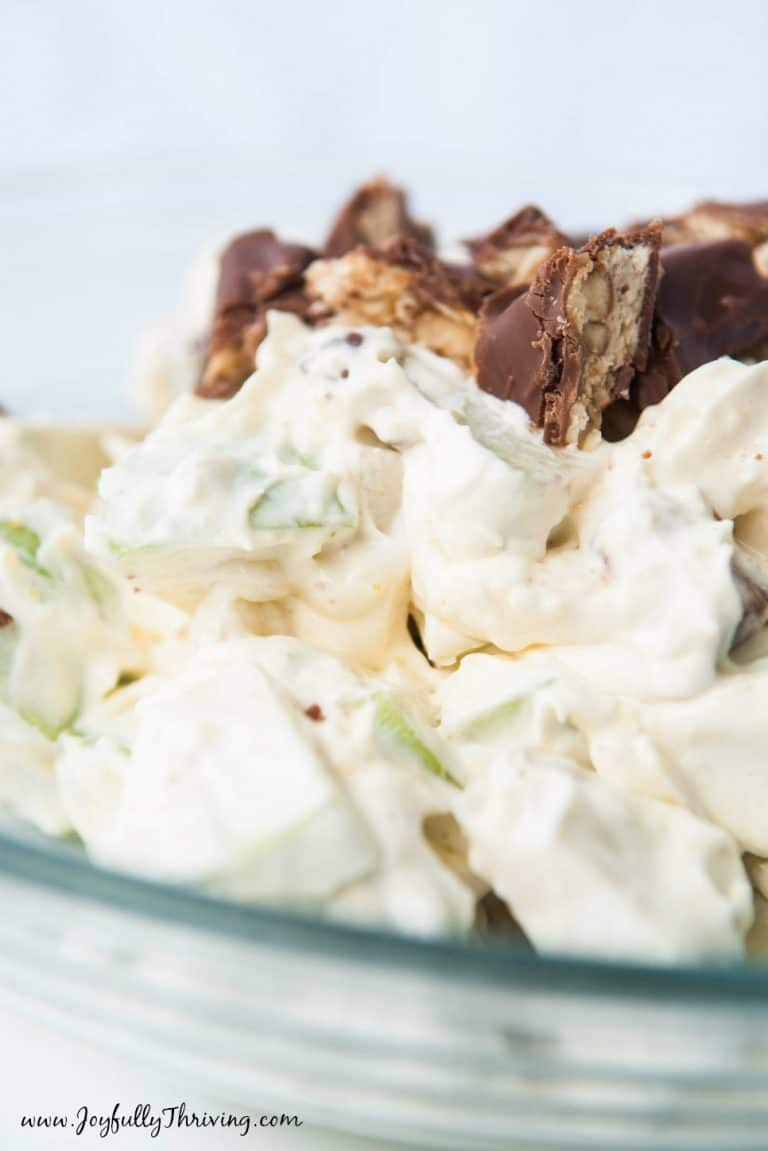 Easy Apple Snickers Salad