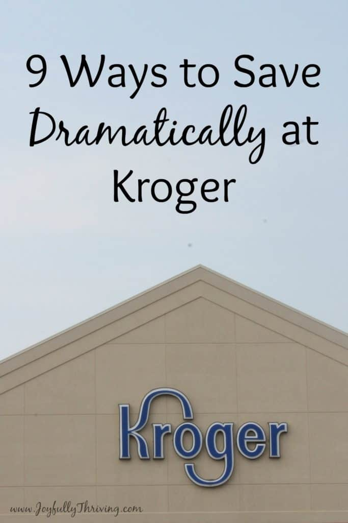 9 Ways to Save at Kroger - This is a great list of ways to save dramatically on your grocery bill at Kroger!