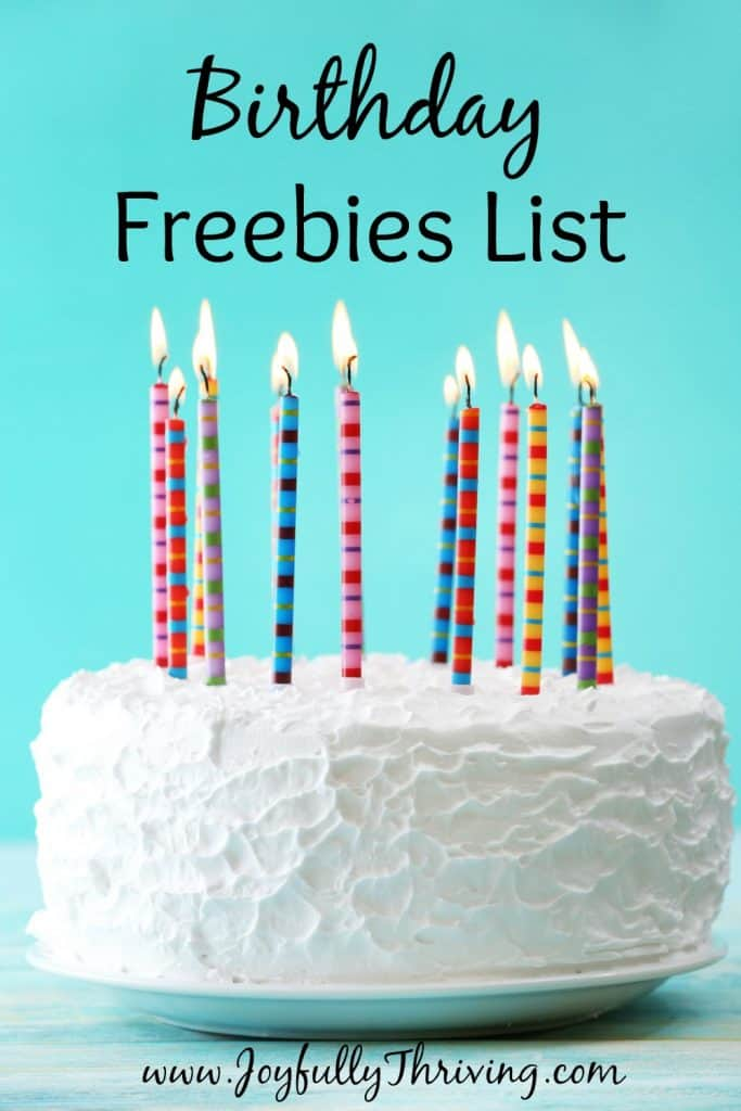 Birthday Freebies List - There are over 2 dozen restaurants where you can eat for free on or around your birthday. Check out this list to claim your freebies! Current as of September 2016.