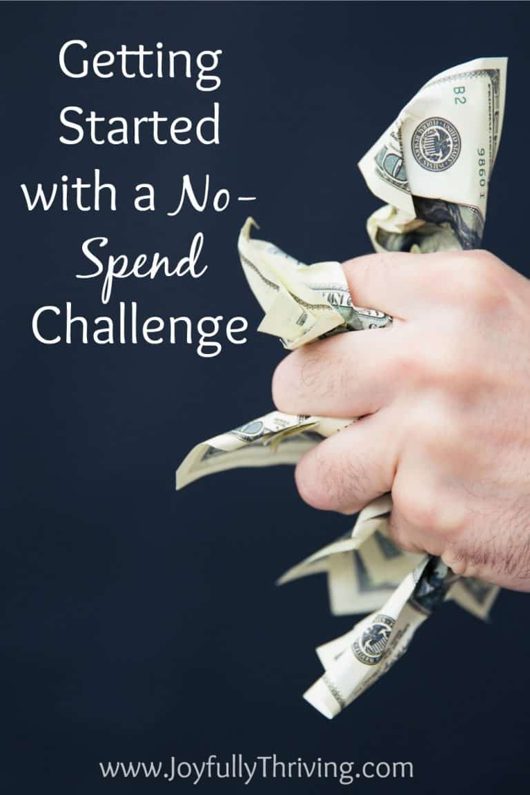 Getting Started with a No-Spend Challenge