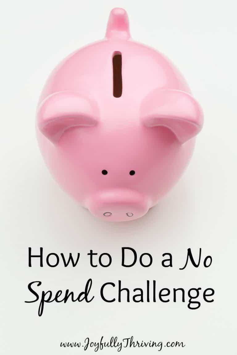 How to Do a No Spend Challenge