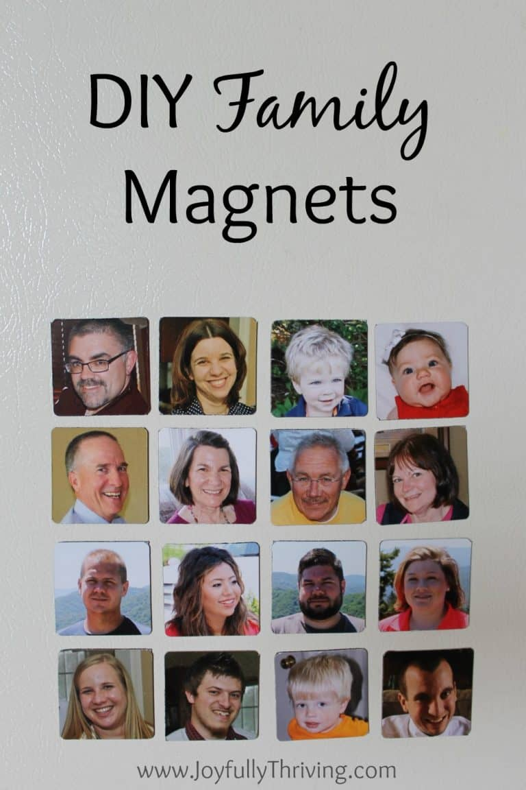 How to Make DIY Family Magnets Your Little Ones Will Love