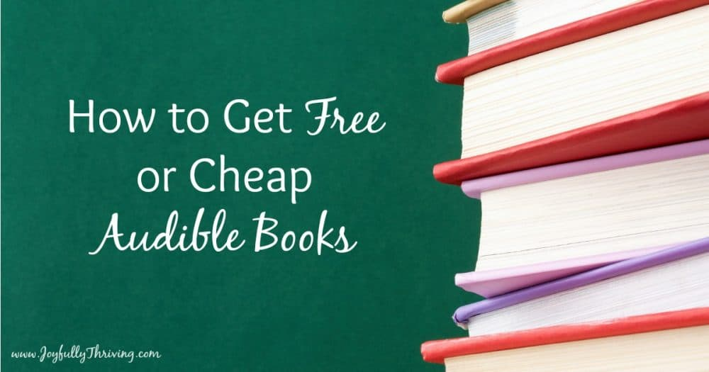 Love this! So handy to know how to get free or cheap Audible books!