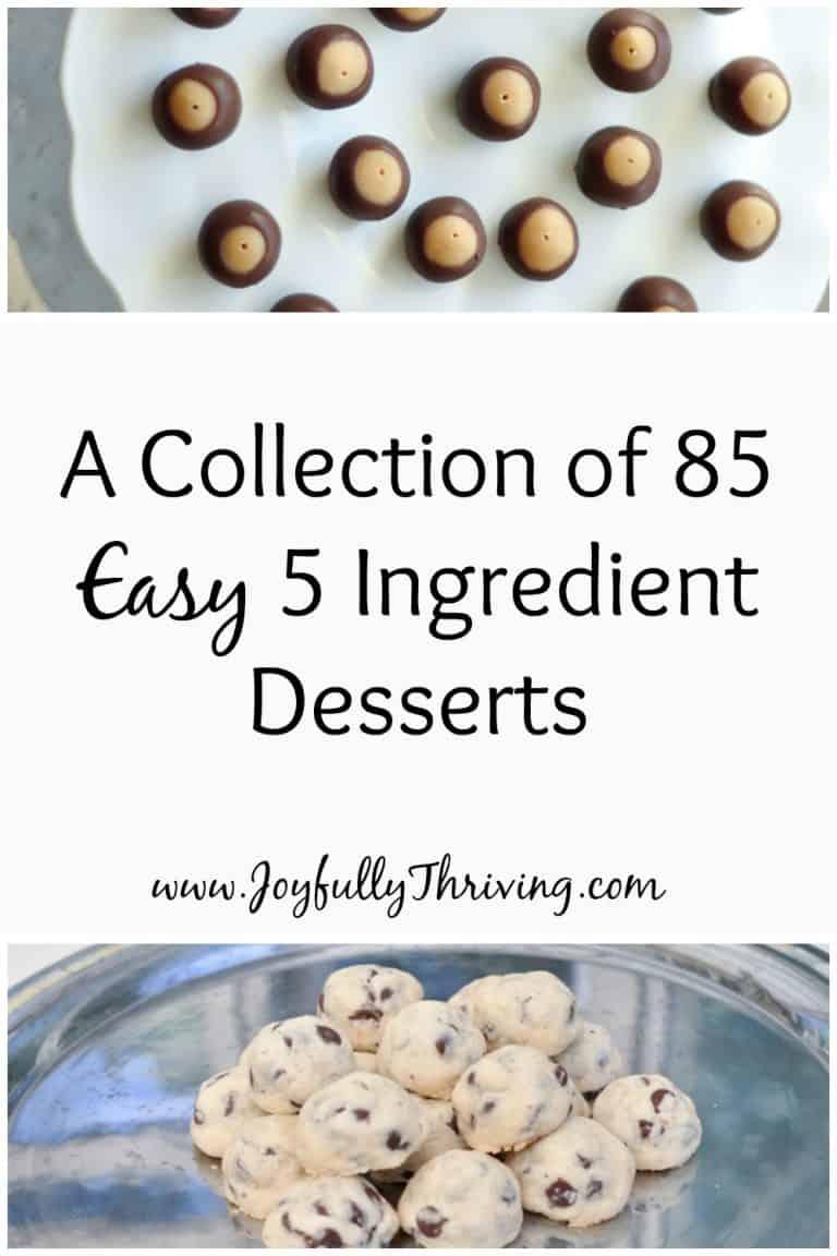 Easy 5 Ingredient Desserts
