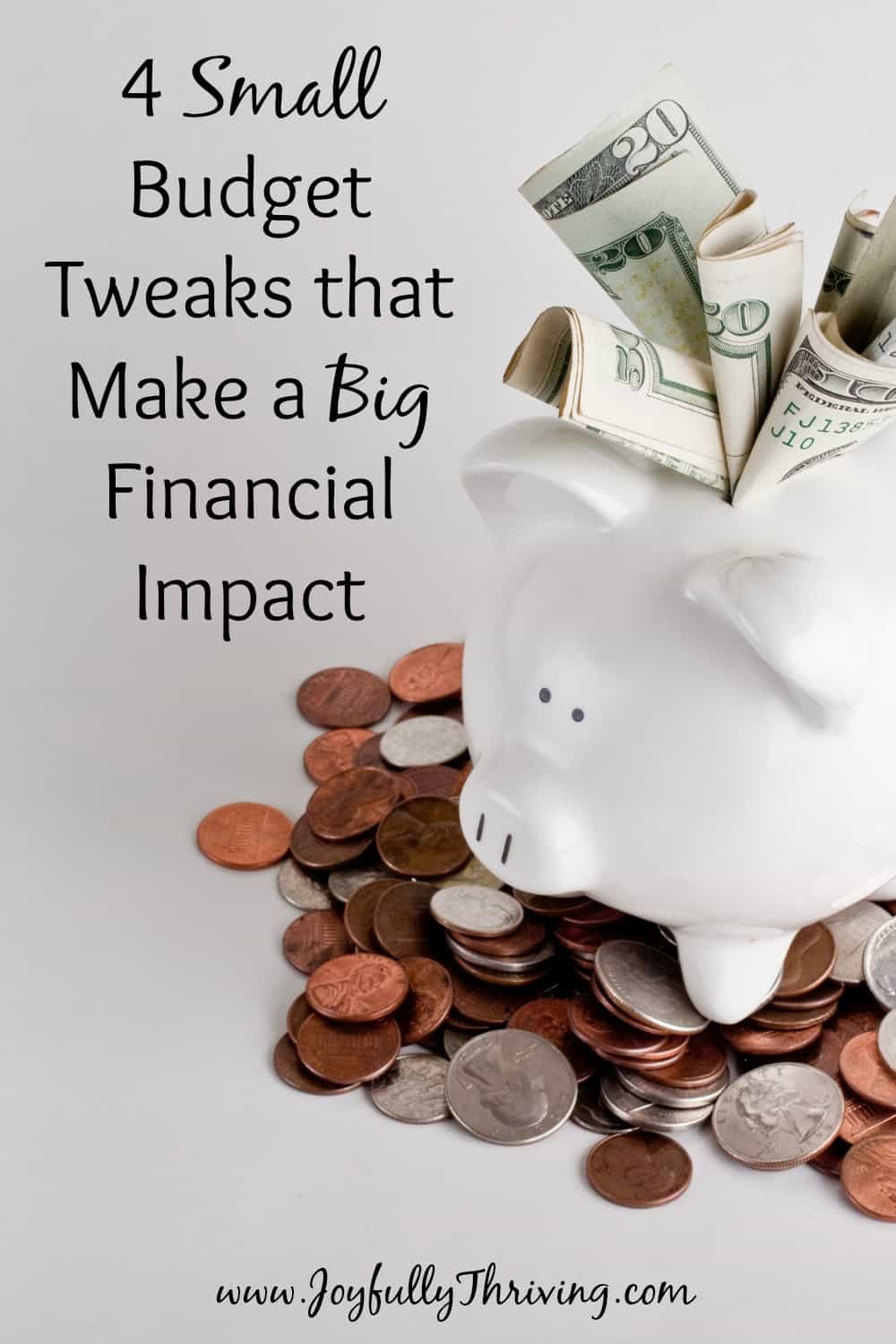 Small Budget Tweaks that Make a Big Financial Impact - Yep. These little changes can save you a lot of money!