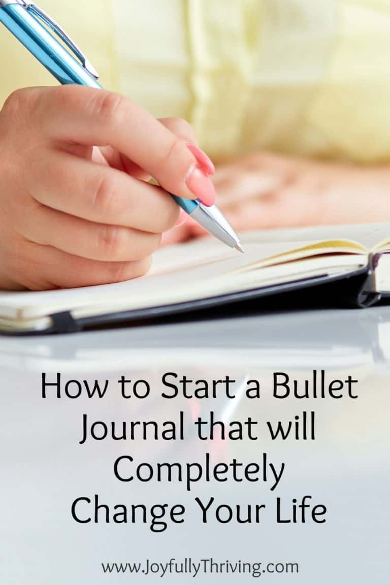 How to Start a Bullet Journal that Will Change Your Life
