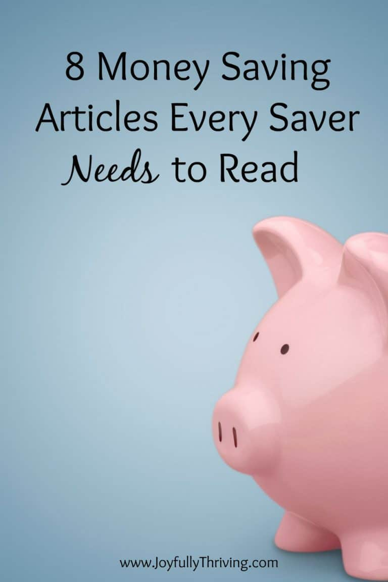 8 Money Saving Articles Every Saver Needs to Read
