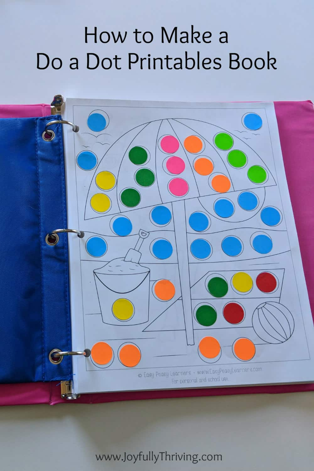 How to Make a Do a Dot Printables Book with Lots of Free Printables - It's a simple and fun idea for kids! Great for a traveling, too.