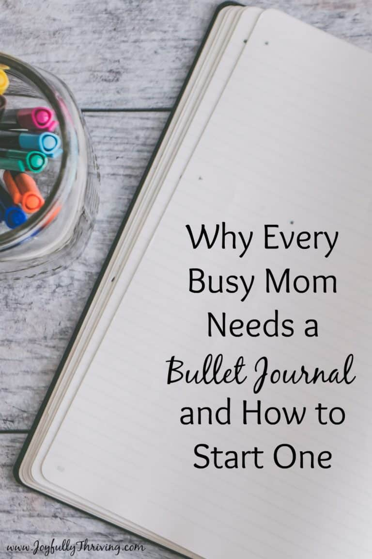 The Best Busy Mom Planner (Or Why Every Busy Mom Needs a Bullet Journal)