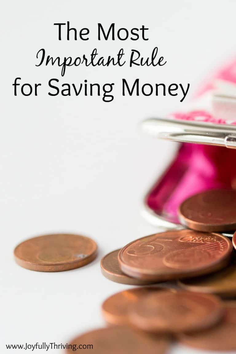 The Most Important Rule for Saving Money