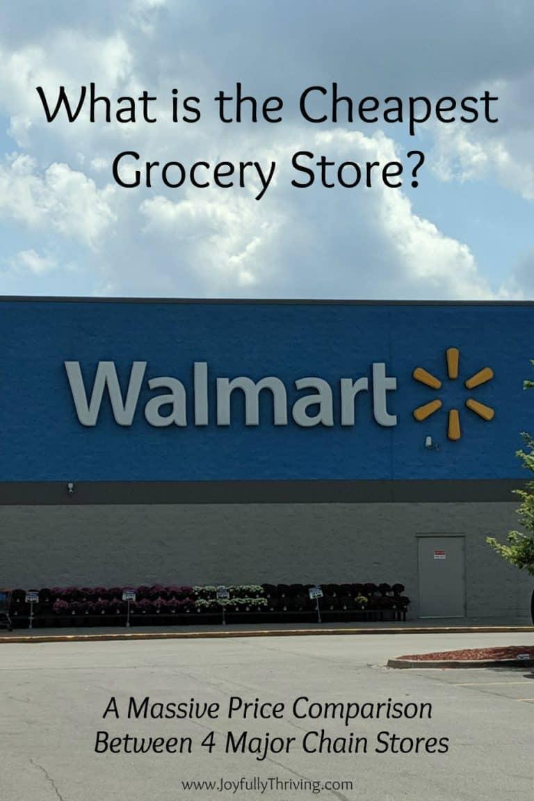 The Cheapest Grocery Store – A Massive Price Comparison