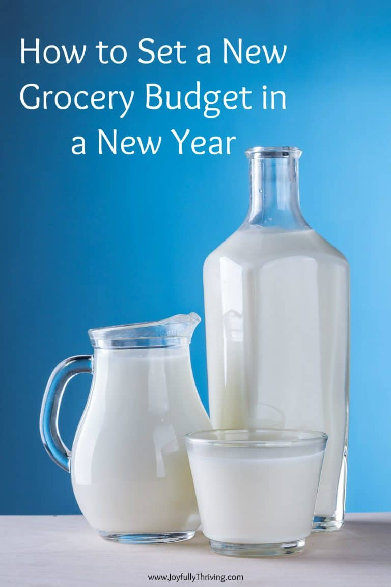 Setting a New Grocery Budget in a New Year