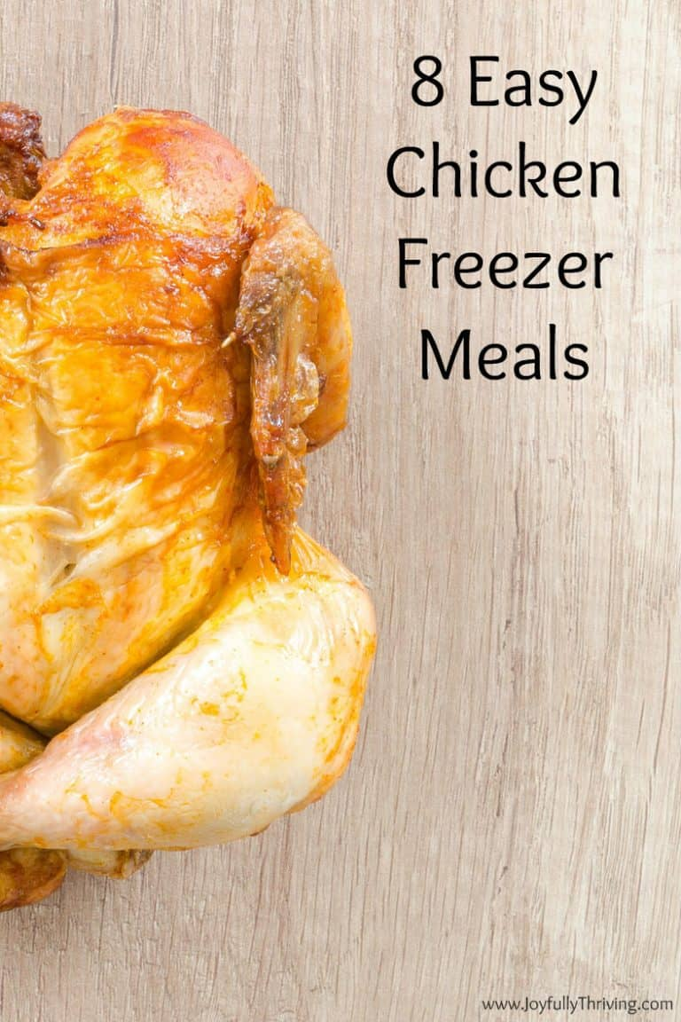 8 Easy Freezer Meals with Chicken